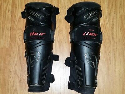 Thor Force Knee & Shin Guards / Braces - L/XL - Used - FREE SHIPPING