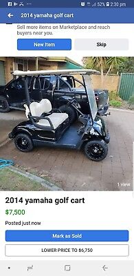 2014 Yamaha Petrol Golf Cart