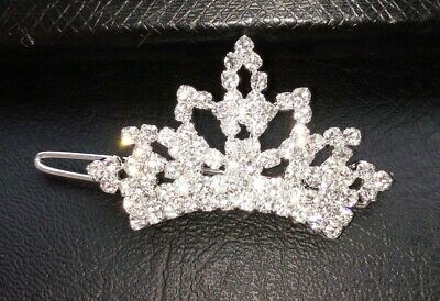 1x Crown Dog Cat Hair Clips Pet Puppy Rhinestone Hairpin Grooming Accessories