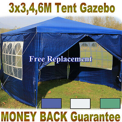 Gazebo Waterproof Garden Outdoor Marquee Wedding Party PE Tent 3x3/3x4/3x6m New