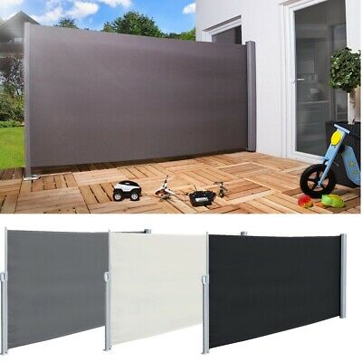 1.8x3m / 2x3m Retractable Side Awning Wall Shade Privacy Screen Patio Terrace