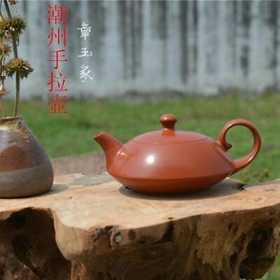 Unique Yixing Red Purple Sand Pure Hand-Made*行云流水*teapot