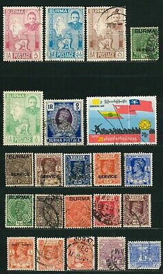 Lot Of Burma Old Stamps - Used