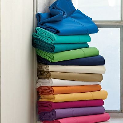 1000TC Ultra SOFT Egyptian Cotton Flat & Fitted Sheet Set AU Size,Color Bed New