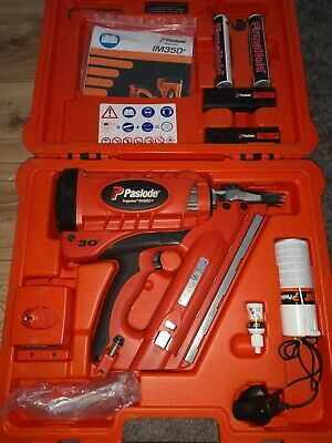 Paslode IM350+ With 2 Batteries, Charger, Accessories And Case