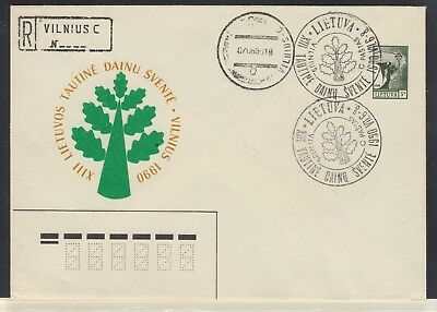 LATVIA 1990 Registered Cover Unaddressed