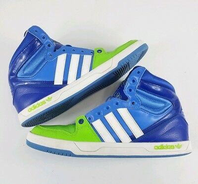 finest selection 4986b c254b 2013 Adidas Trefoil Court Attitude G99390 Blue Green White Mens Size 10 b2