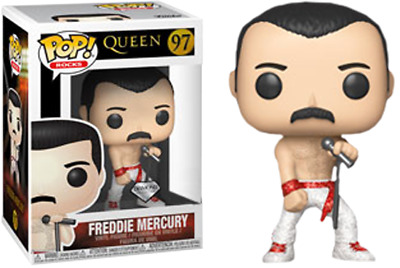 UK Funko Pop! Vinyl Rocks - Queen - Freddie Mercury DIAMOND EXCLUSIVE PRE ORDER
