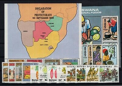 P106525/ Botswana / Y&t # 507 / 510 – 516 / 527 + Bf17 / Bf18 Mnh Complete
