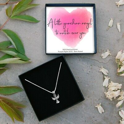 Sterling Silver Angel Necklace Mum CHOOSE AGE Birthday Present Gift Jewellery