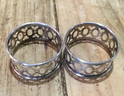 Pair Of Silver Napkin Rings