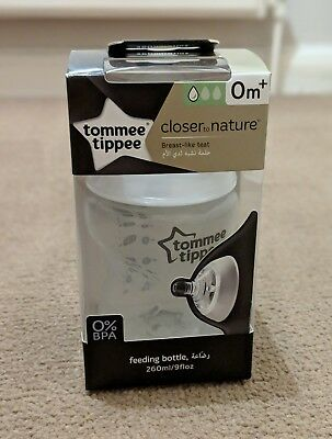 Tommee Tippee Closer to Nature 260ml Feeding Bottles x3