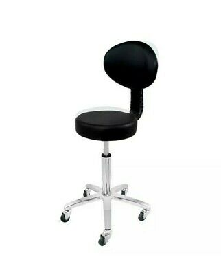 Deo Black Cutting Beauty Salon Tattoo Spa Lashes Gas Lift Stool With Backrest