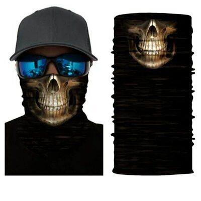 Skull Mouth Bandana 3D Seamless Balaclava Skeleton Magic Scarf Neck Mask Men