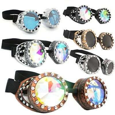 Welding Cyber Goggles Kaleidoscope Diamonds Steampunk Cosplay Goth Victorian