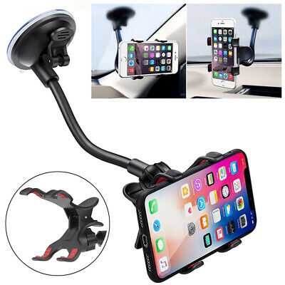 360° Car Windshield Suction Cup Mount Cradle Holder For Mobile Cell Phone GPS