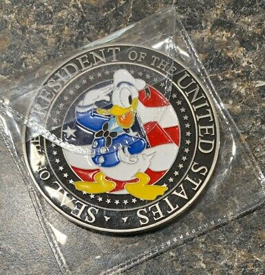 Walt Disney Trump Donald Duck Seal  Challenge  Coin