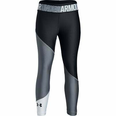 Under Armour Girls HeatGear® Colour Block Ankle Crop Leggings