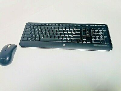 HP WIRELESS KEYBOARD KBRF1921 WITH Microsoft Wireless Mouse 1000 Model 1454