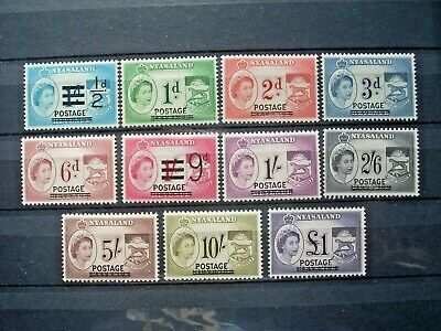 Nyasaland 1963 Definitive Set Lmm  Sg188/98