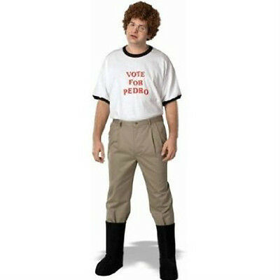 Napoleon Dynamite Complete Costume Kit: Adult Vote For Pedro T-Shirt, Accessory