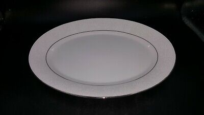 Noritake Contemporary Fine China Tahoe Oval Serving Platter,