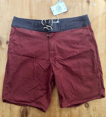 daff8e7cc2 Mens Fat Face Harbour Twill Beach Swim Shorts - Brick Red - New With Tag -