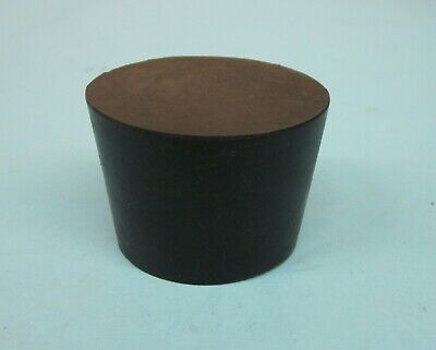NEW Solid #7 laboratory rubber stoppers-EPDM tapered rubber plug (2) US Made