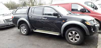 Black 2007 Mitsubishi Animal l200 with capony and Toe Hitch - Spares or Repairs