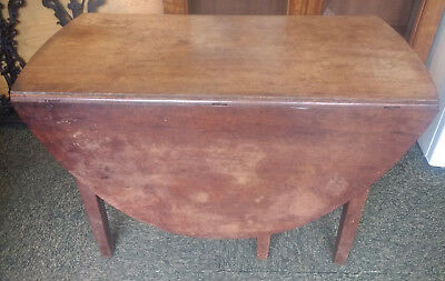 Antique Mahogany Table Victorian / Georgian Oval Drop Leaf Gateleg with drawer.