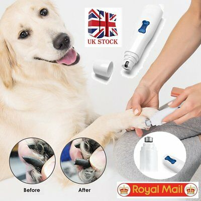 Premium Electric Pet Nail Grinder Paws Grooming Trimmer Groomer Dog Cat Clipper