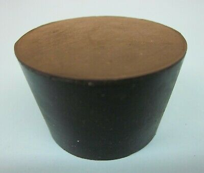 NEW Solid #8 laboratory rubber stoppers-EPDM tapered rubber plug (2) Made in USA