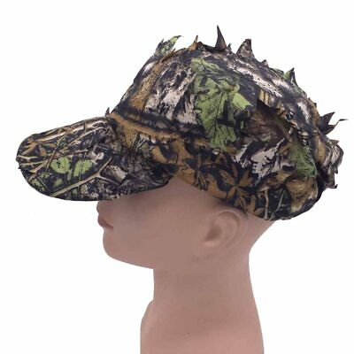 4d160f2c890da 3D Leaf Camo Hat Polyester Material Durable Breathable Disguise Quick-drying