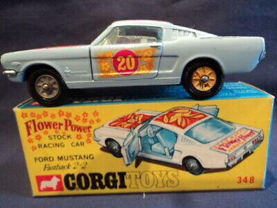 "Corgi Very Rare 1960's Ford Mustang ""Flower Power"" No: 348 N/MINT Ex Shop Stock"