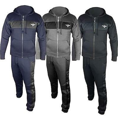 Sports Jogging Mens Zip Up DLX Joggers Full Top Bottoms Hooded Hoodie Tracksuits