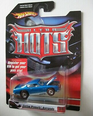 Plymouth Barracuda Custom  Blue 1967 **RR** Hot Wheels Ultra Hots USA 1:64 OVP