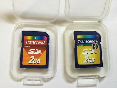 2pcs 2gb Transcend standard SD SECURE DIGITAL MEMORY CARD for older sd CAMERAS