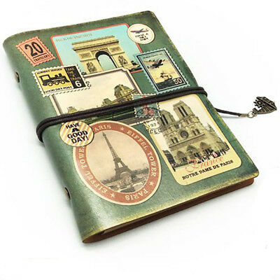 Classic Notebook PU Leather Diary Book Refillable Retro Vintage Handmade Journal