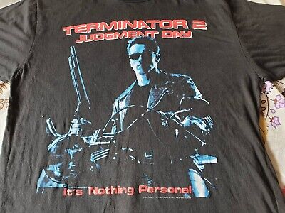 486a1492399 RARE VINTAGE TERMINATOR 2 Judgment Day 1991 T-Shirt XL Arnold ...