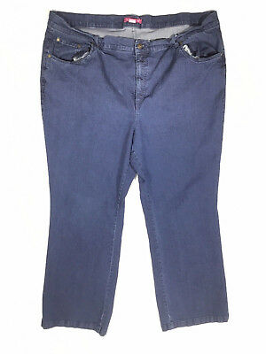 dd90e03cee38c Woman Within Plus Size 24W Dark Wash Blue Relaxed Straight Leg Jeans