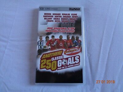 Another 250 Classic Goals - PSP UMD Video - Playstation - Used & Excellent !