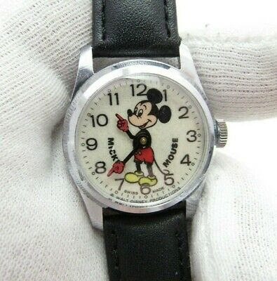 MICKEY MOUSE,Bradley,Rare Mid-Size,Manual Wind,70s,MEN'S CHARACTER WATCH,142
