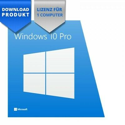 *** Microsoft Windows 10 Professional 32/64 Bit ESD deutsch Vollvers. 259,-€ ***