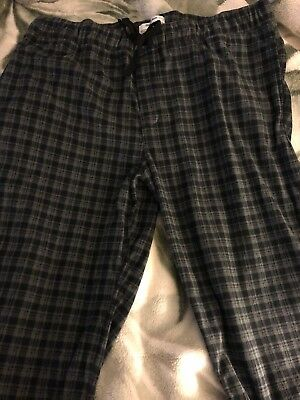 99a3c7c46 GOODFELLOW   CO Men s Sz L Fleece Lounge Pajama Pants Plaid Nwot ...