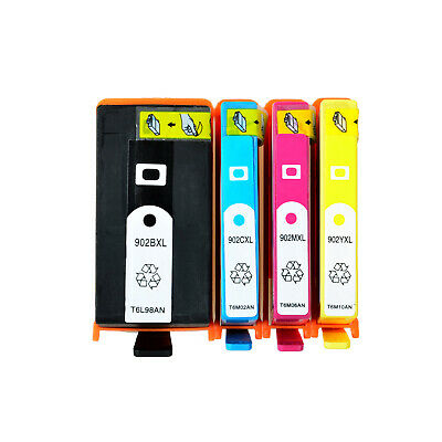 4PK Ink Cartridge for 902XL906XL BCYM HP Officejet Pro 6950 6954 6958 6960 6970