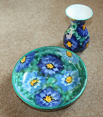 Decorative Vase and Bowl, Floral, Very Good Condition
