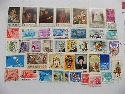 Romanian Coll'n of stamps off paper -2-4-some large pictorials