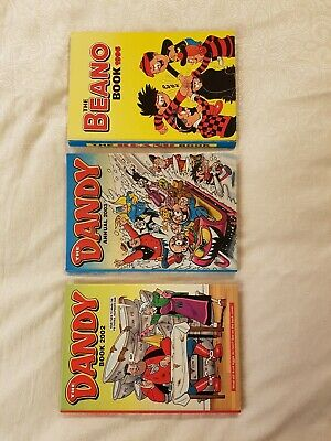 Beano & Dandy Annuals X 3 In Used Condition