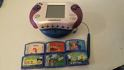 Leapfrog Leapster2 Pink Handheld Learning System with 6 Games & Power Pack