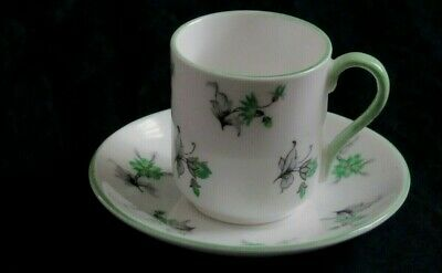 Shelley - Charm Green - Miniature Cup & Saucer Set  - Made in England